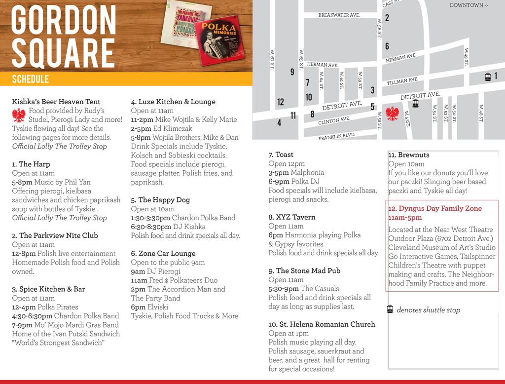 Schedule - Gordon Square - Dyngus Day Cleveland